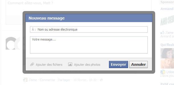 comment envoyer un message privé sur facebook
