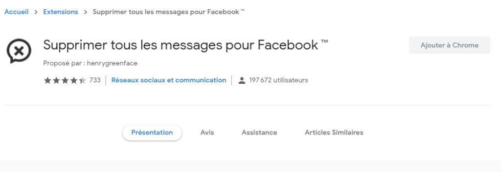 Comment effacer toutes les discussions Messenger  à l'aide d'une extension sur Chrome